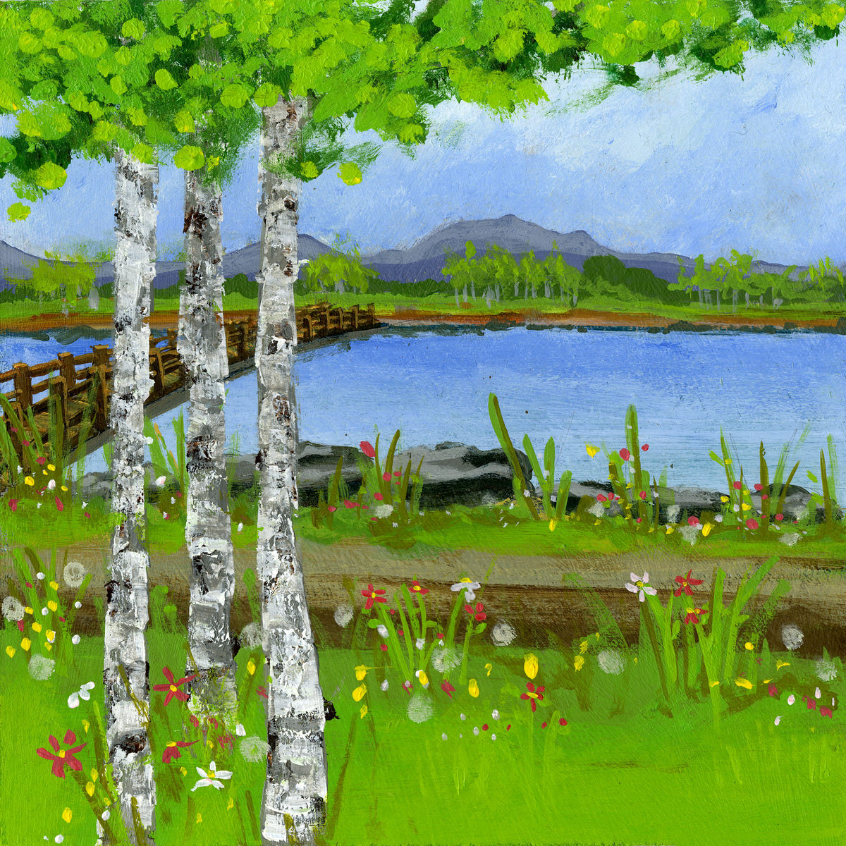 scenic scenery painting from the book A Trip Around the Pond